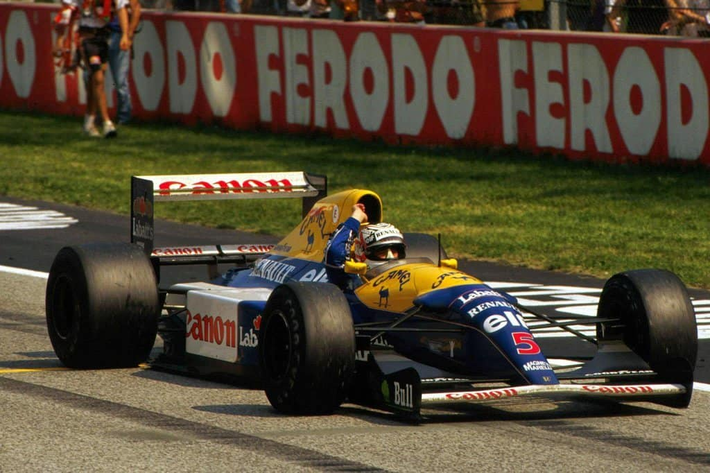 Nigel Mansell San Marino Imola F1 1992 Foto Williams