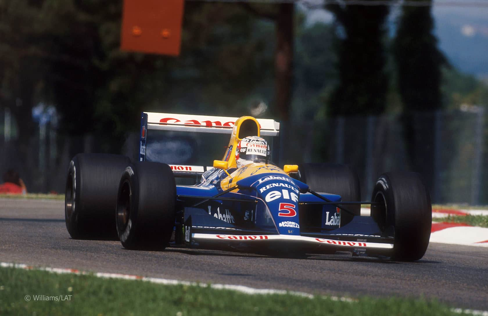 Nigel Mansell Williams FW14B San Marino GP Imola F1 1992 Foto Williams