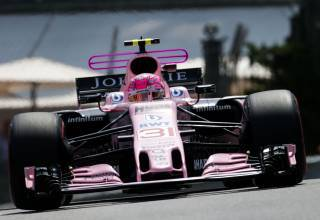 Ocon Force India T-wing Monaco F1 2017 Foto Force India