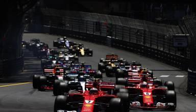 Raikkonen leads Monaco GP F1 2017 start Foto Pirelli