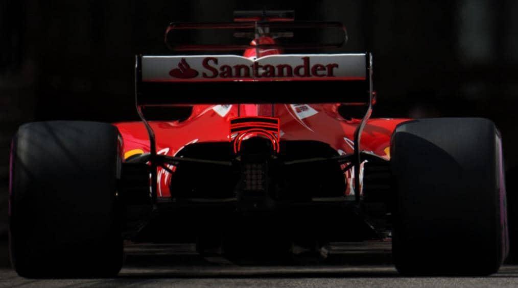 SF70H Monaco GP F1 2017 rear end monkey seat