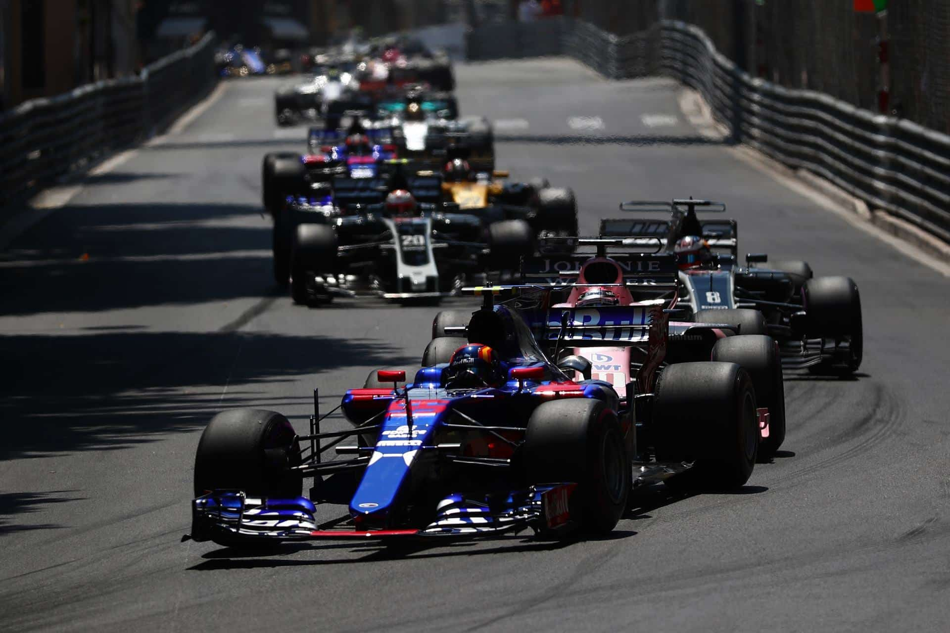 Sainz leads midfield Monaco GP F1 2017 Photo Red Bull