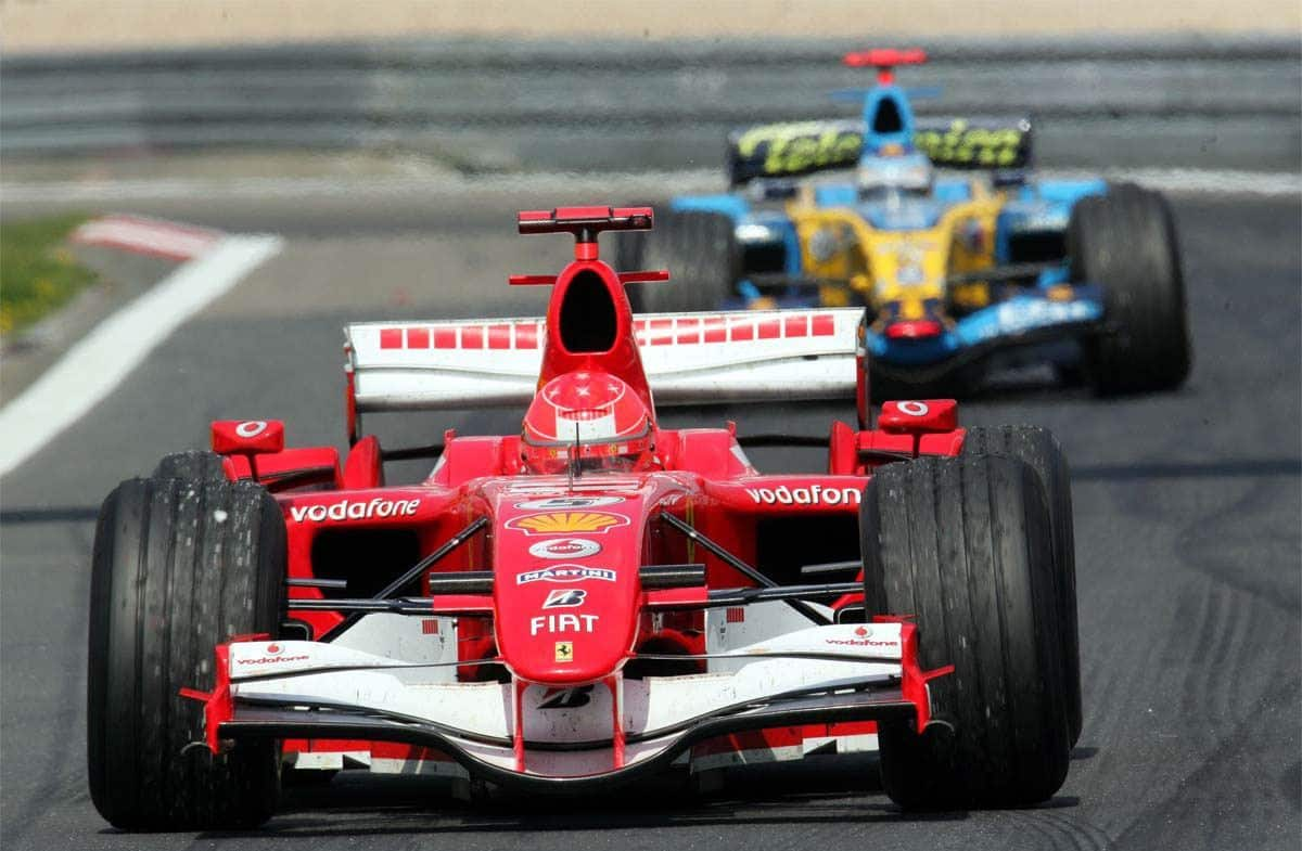 Schumacher Alonso European GP F1 2006 Foto Reuters