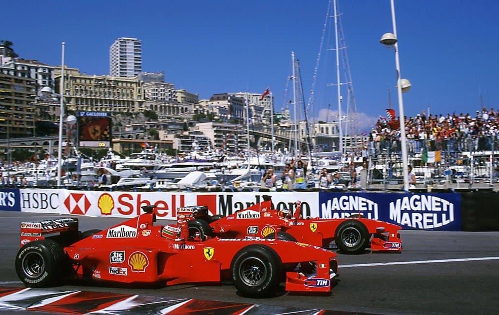 Schumacher Irvine Ferrari F399 Monaco GP F1 1999