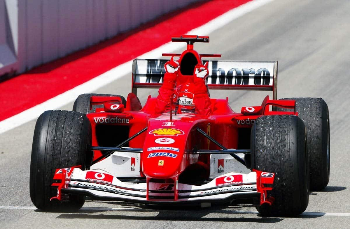 Schumacher Spain 2004 victory Foto Reuters