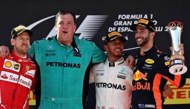 Spain F1 2017 podium Foto Red Bull