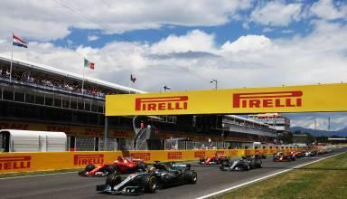Spain F1 2017 start Foto Pirelli