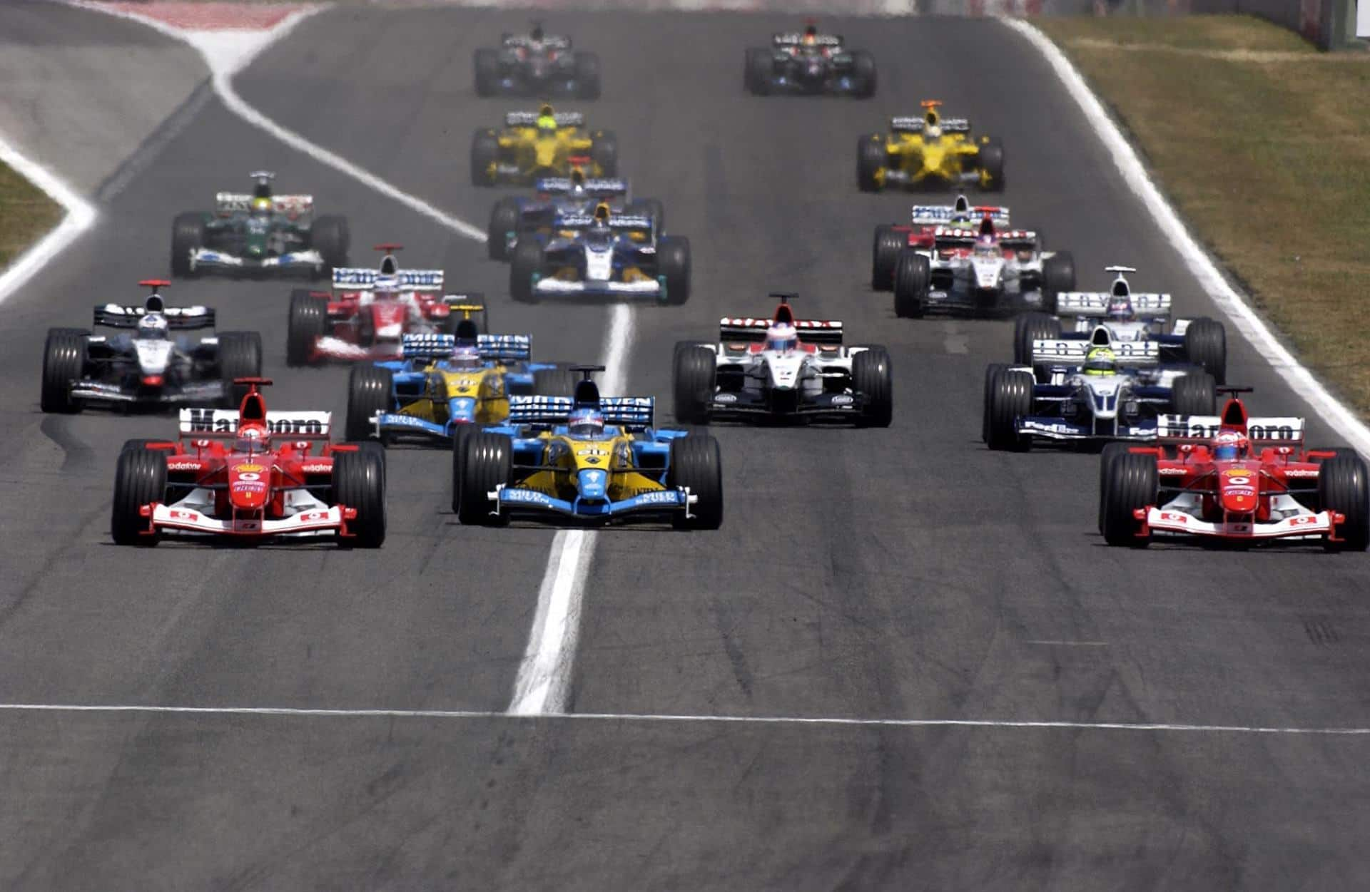 Spanish GP F1 2003 start Foto Ferrari