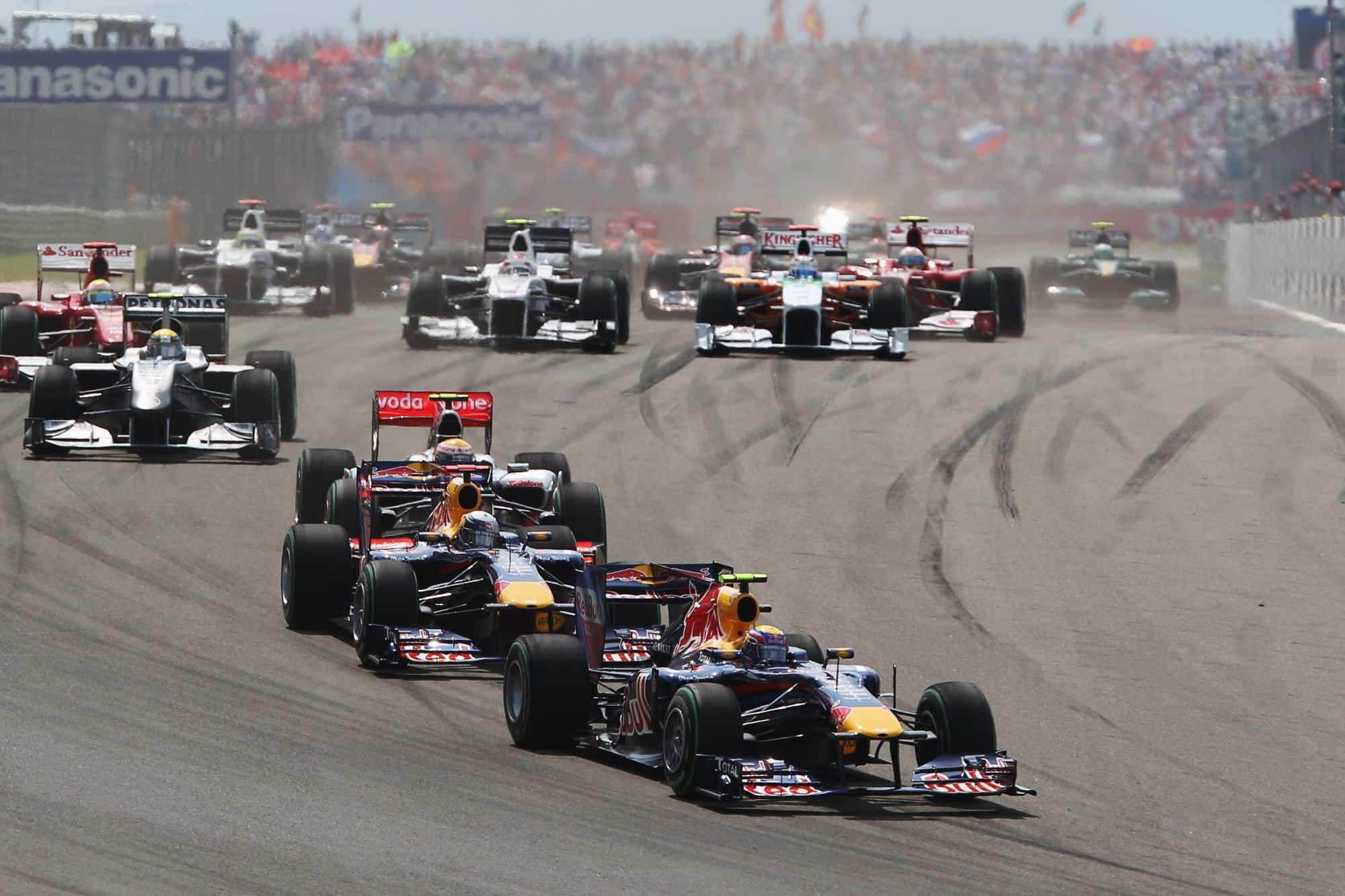 Turkish GP F1 2010 start Photo Red Bull