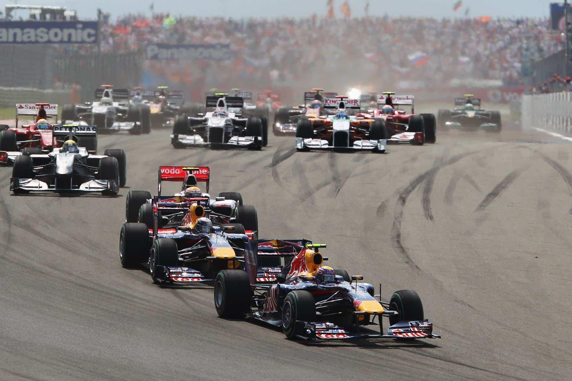 Turkish GP F1 2010 start Photo Red Bull