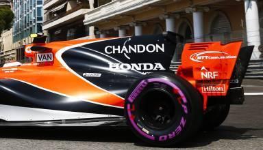 Vandoorne McLaren Honda MCL32 Monaco GP F1 2017 close rear end Photo McLaren