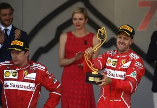 Vettel-Raikkonen-Ferrari-Monaco-GP-F1-2017-Foto-Ferrari.