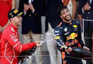 Vettel Ricciardo Monaco F1 2017