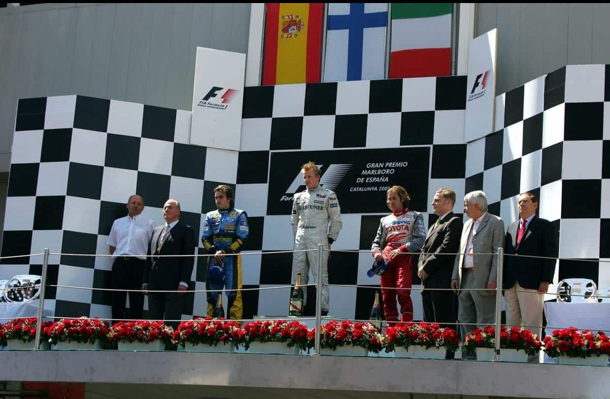 spanish gp f1 2005 podium
