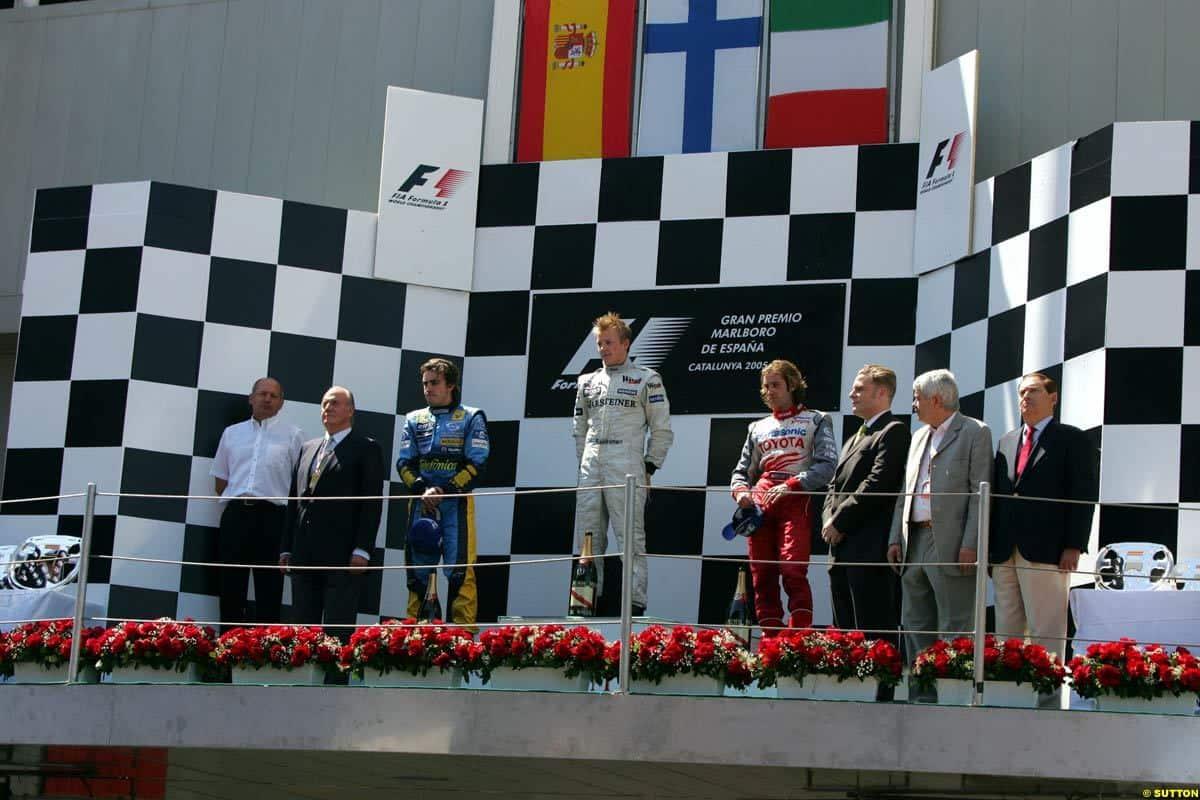spanish gp f1 2005 podium