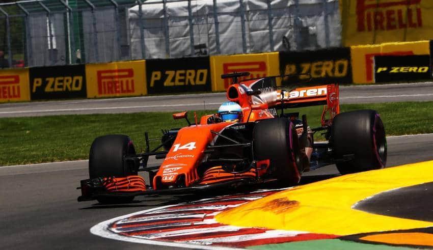 Alonso McLaren Honda Canadian GP F1 2017 final chicane Photo Pirelli