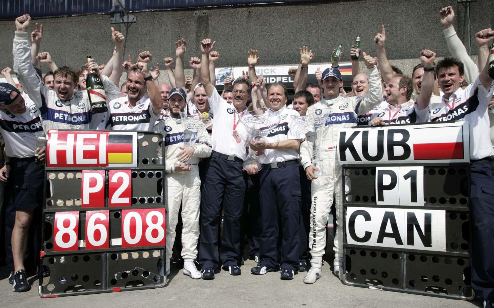Canada F1 2008 podium Kubica Heidfeld Foto F1fansite
