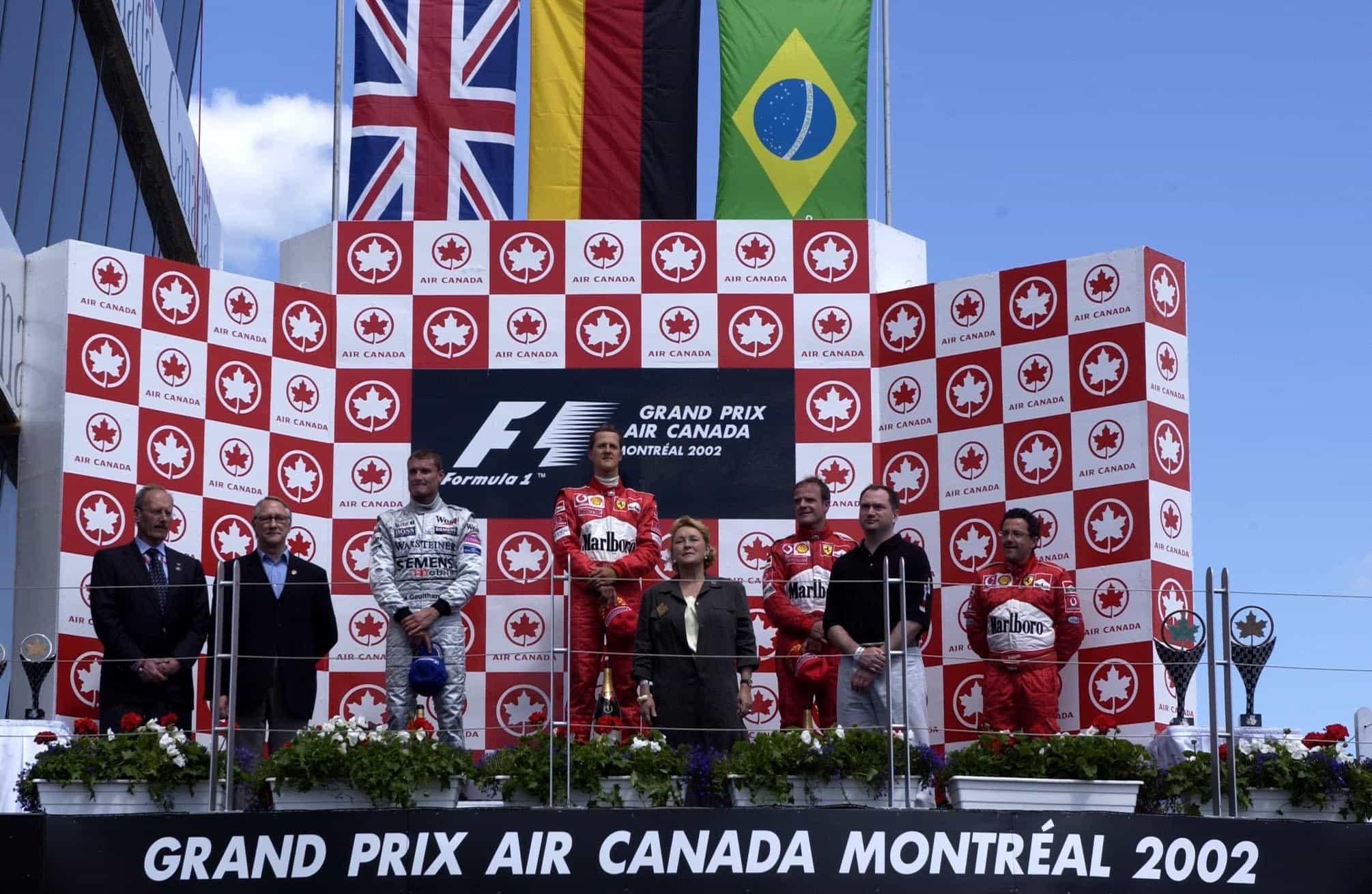 Canadian GP F1 2002 podium Foto Ferrari