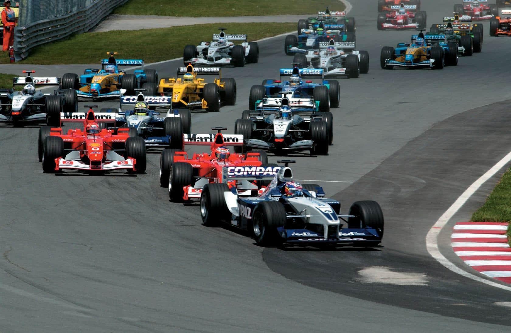 Canadian gP F1 2002 start Foto BMW