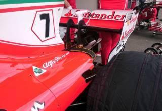 Ferrari SF70H rear end Azerbaijan F1 2017