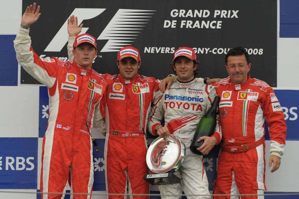 French GP F1 2008 podium Photo Ferrari