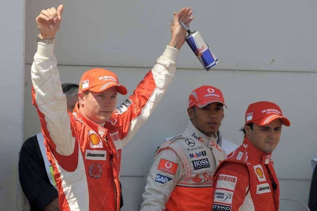 Kimi Raikkonen Lewis Hamilton Felipe Massa French GP F1 2008 Magny Cours Photo Ferrari
