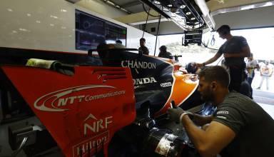 McLaren Honda Baku F1 2017 garage rear end Photo McLaren