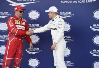 Raikkonen Bottas Azerbaijan GP post qual Photo Ferrari