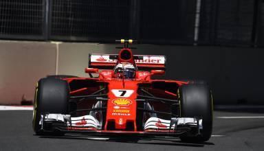 Raikkonen Ferrari soft Baku F1 2017 Photo Ferrari