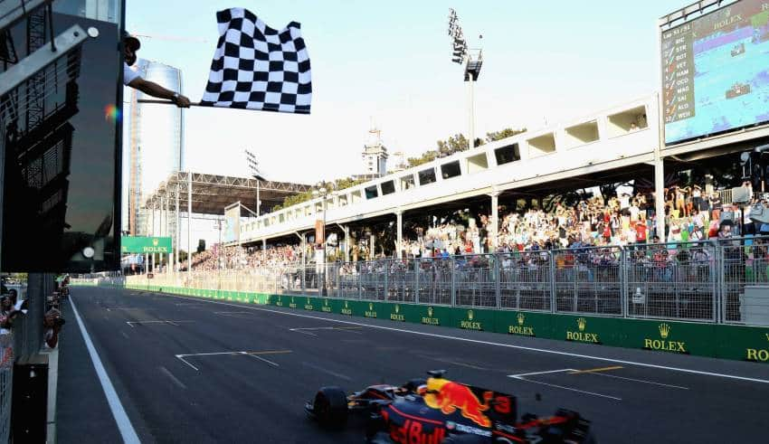 Ricciardo victory Baku F1 2017 Photo Red Bull
