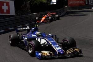 Wehrlein Sauber Monaco GP F1 2017
