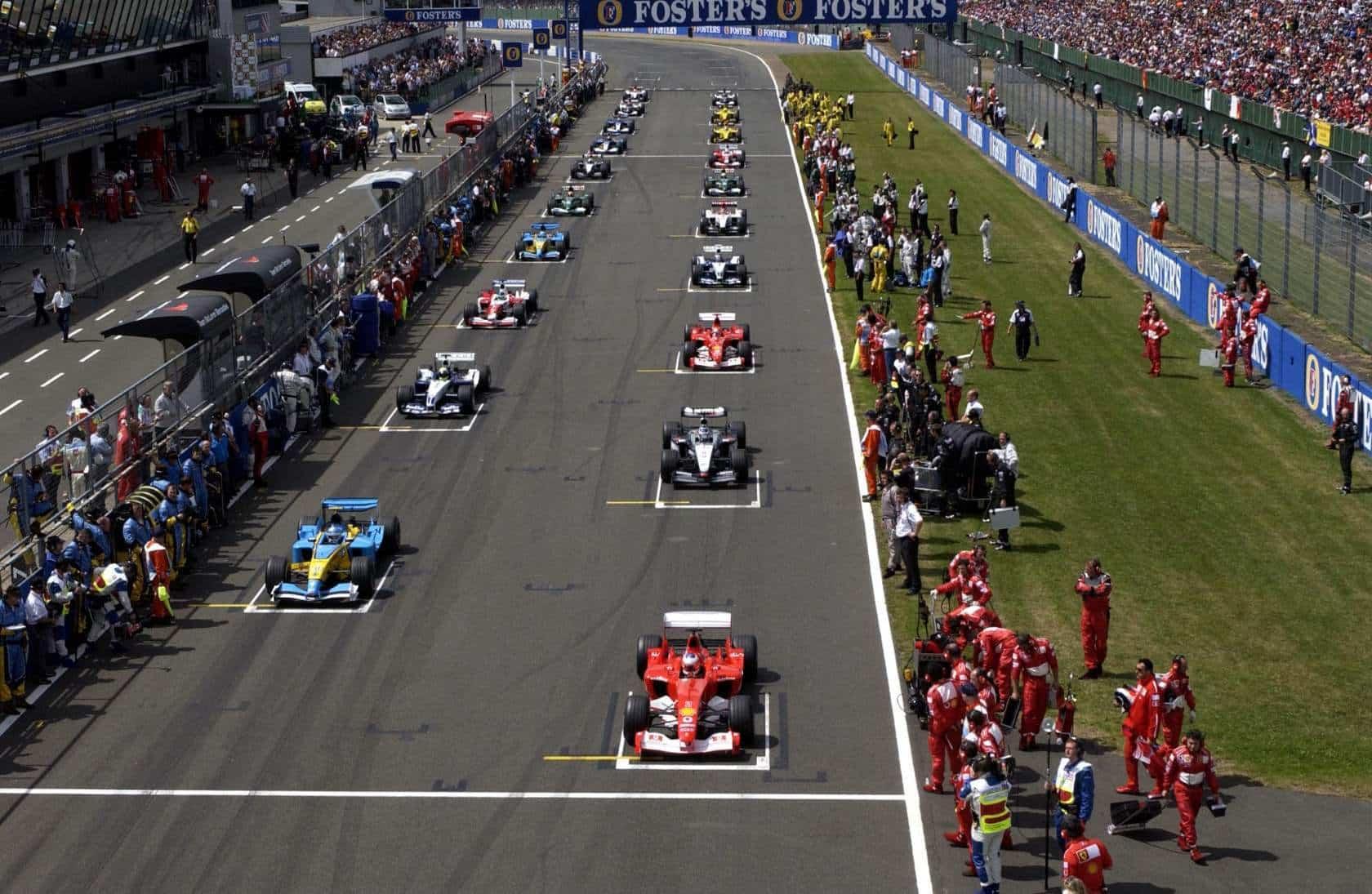 British GP F1 2003 start Photo Ferrari