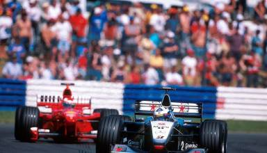 Coulthard leads Schumacher British GP F1 1999 Photo Twitter