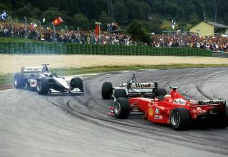 Coulthard spins Hakkinen Irvine passes Austrian GP F1 1999 Photo F1 History