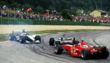 Coulthard spins Hakkinen Irvine passes Austrian GP F1 1999 Photo F1 History