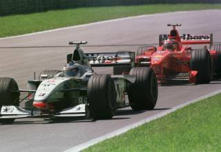 Hakkinen leads Schumacher Austrian GP F1 1998 Photo McLaren