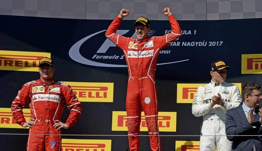 Hungarian GP F1 2017 podium Photo Ferrari