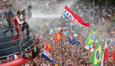 Monza F1 2013 podium and fans Photo Red Bull