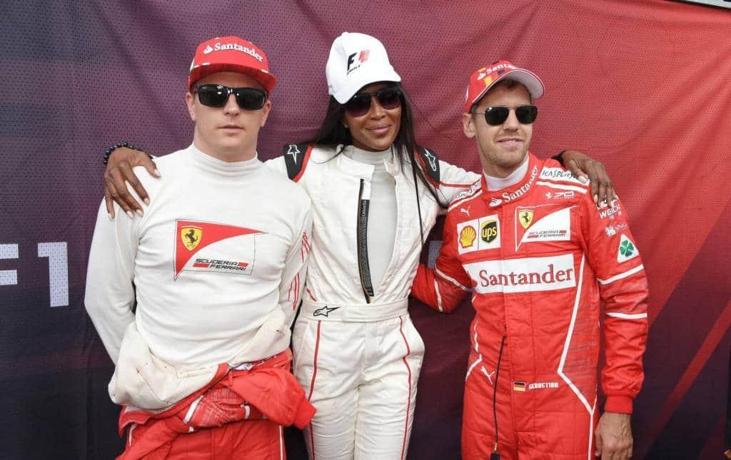 Raikkonen Naomi Campbell Vettel London F1 show 2017 Photo F1