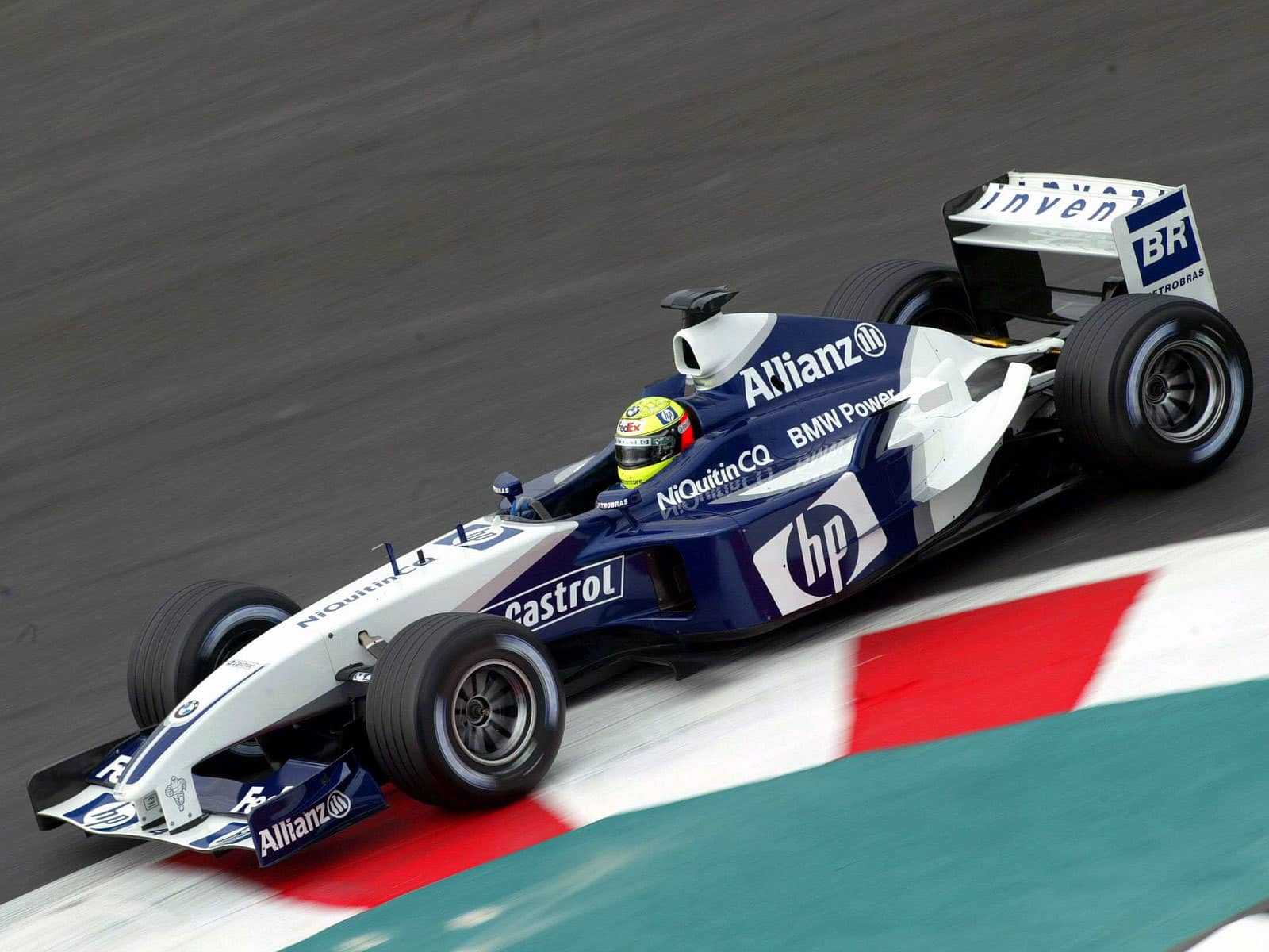 Ralf Schumacher BMW Williams FW25 French GP F1 2003 chicane Photo F1fansite