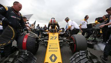 Renault Hulkenberg Silverstone F1 2017 starting grid Photo Renault