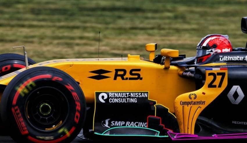 Renault RS17 2017 British GP F1 tech updates bargeboards Photo AMuS MAXF1net