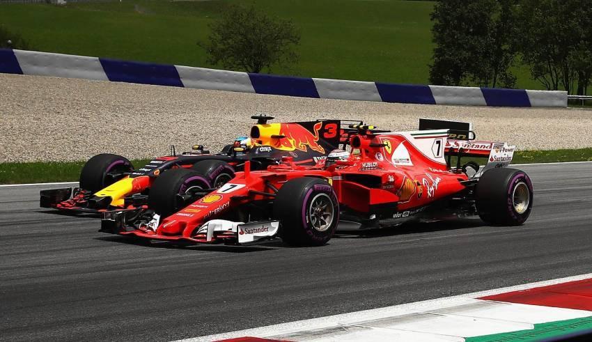 Ricciardo Raikkonen F1 2017 AUstrian GP Photo Red Bull