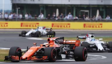Vandoorne Massa Stroll McLaren Williams Silverstone F1 2017 Photo McLaren