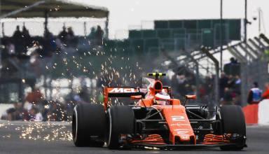 Vandoorne McLaren Honda British GP F1 2017 sparks Photo McLaren