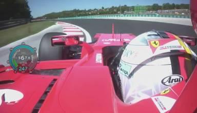 Vettel onboard pole Hungary 2017