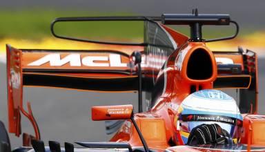 ALonso McLaren HOnda Belgian GP F1 2017 rear and t-wing Photo McLaren