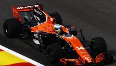Alonso McLaren Honda MCL32 Belgian GP F1 2017 Photo McLaren