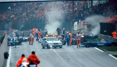 Belgian GP F1 1998 start crash chaos Photo F1-com