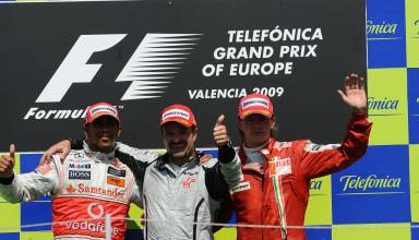 European GP F1 2009 podium Hamilton Barrichello Raikkonen Photo F1fanatic